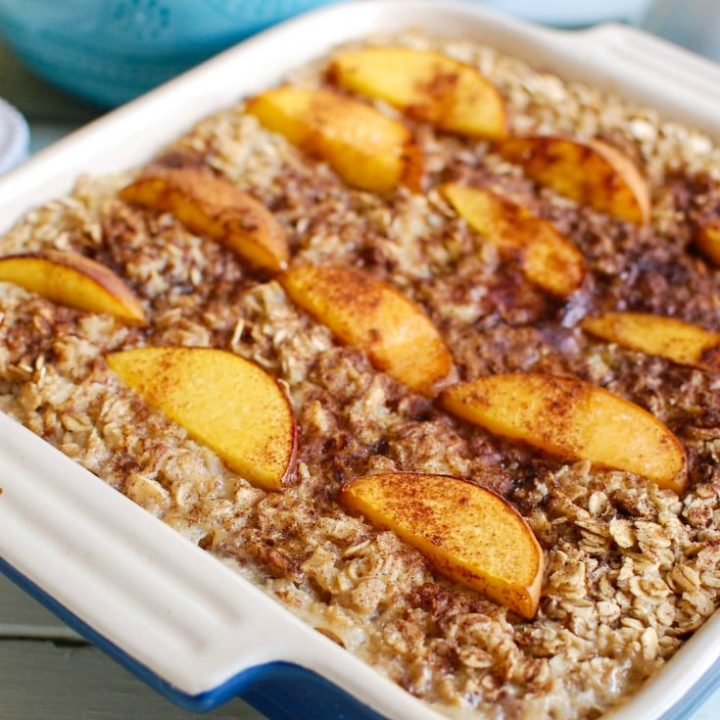 Peaches and Cream Baked Oatmeal