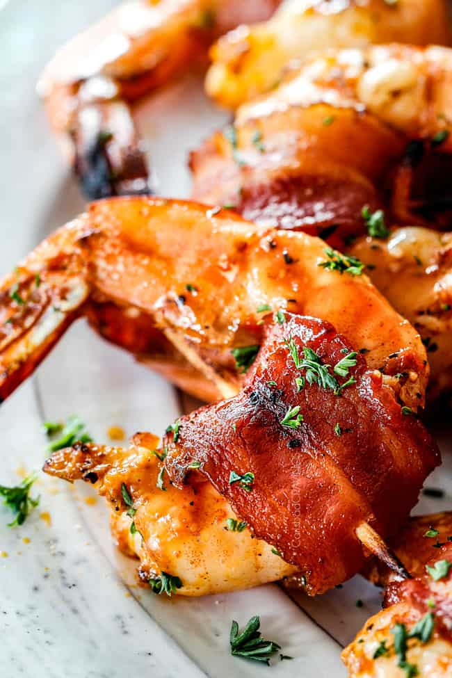 Mesquite Bacon Wrapped Shrimp
